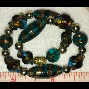 Jewelry - Gorgeous New Lampwork Glass Bead Stretch Bracelet